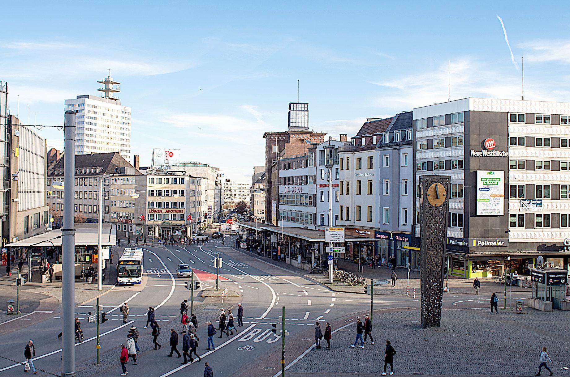 Stadtwerke Bielefeld arbeiten ab Jahnplatz in der