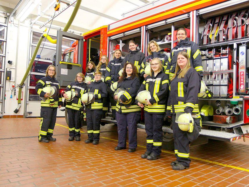 Feuerwehr Frauen Anzug print
