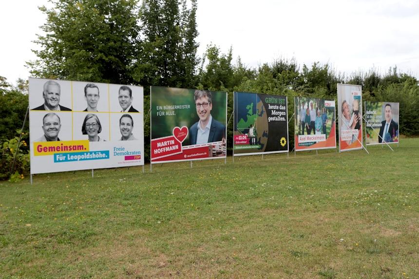 Wahlplakate in Leopoldshöhe
