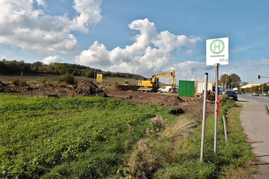Baustelle auf dem Gelände des ehemaligen Scherenkruges. Foto: Thomas Dohna