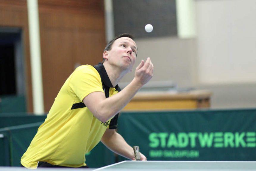 Drehte das Spiel nach 0:2 Satzrückstand und schlug den Routinier der Gastgeber Jaroslav Kosmider noch mit 3:2. Kim Henning Sauerland