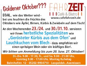 Oktober im Café Fahrzeit