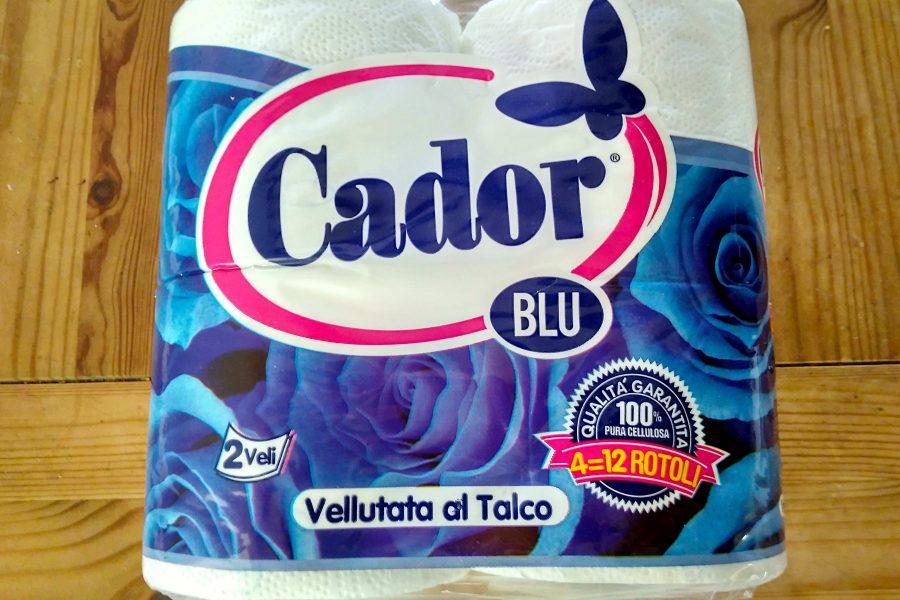 Eine Packung Toilettenpapier aus Italien