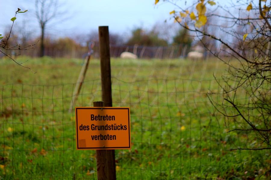 Schafe Heimathof Betreten verboten