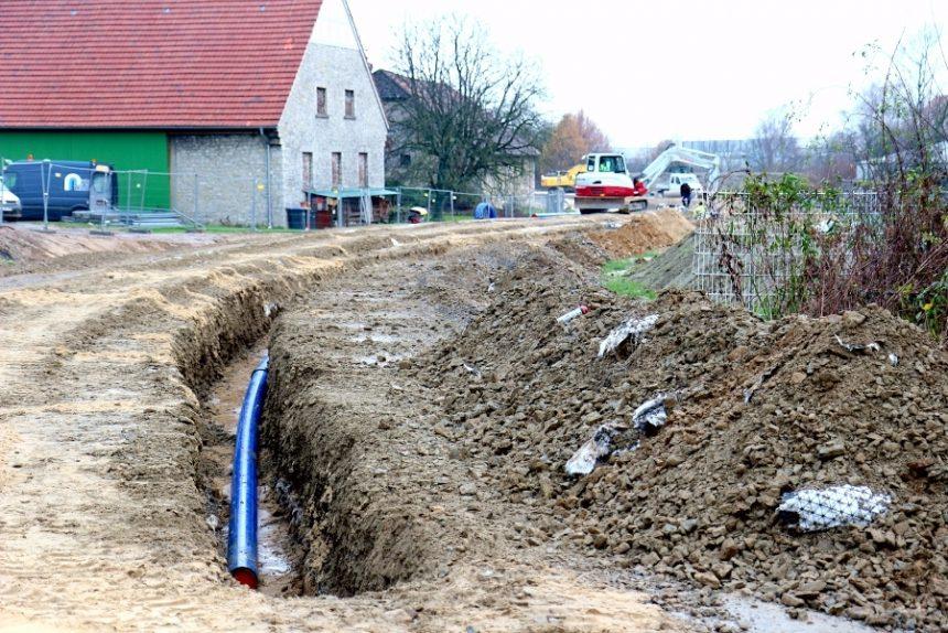 B66n Alleestraße Wasserleitung