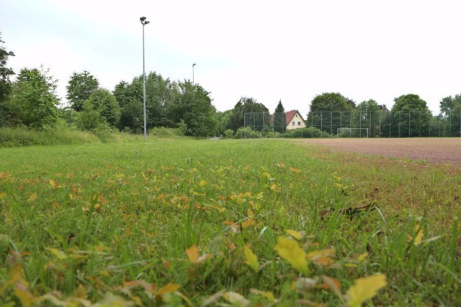 Auf dem Sportplatz Greste soll eine Skateranlage entstehen. Die Nachbarn sind dagegen und fühlen sich übergangen. Foto: Thomas Dohna