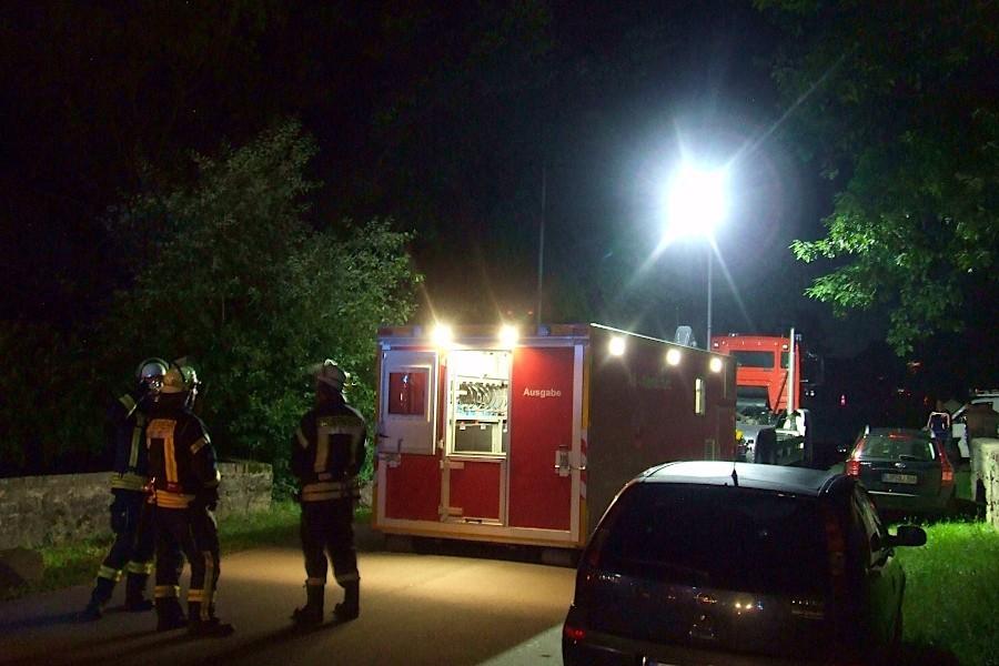 Im Abrollcontainer liefert der Kreis Lippe Material für Einsätze unter Atemschutz. Foto: Freiwillige Feuerwehr Leopoldshöhe