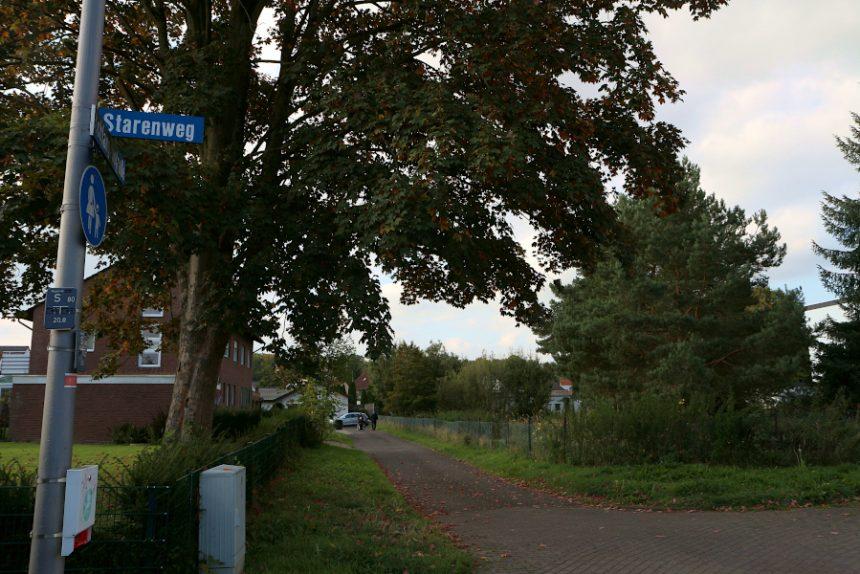 Am Starenweg und an der Schlangenstraße soll das Gelände einer ehemaligen Gärtnerei zum Baugebiet werden. Mehrere Häuser sollen dort entstehen. Foto: Thomas Dohna