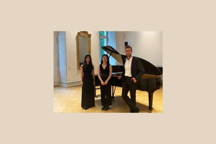 Di Su (Klavier), Jin-Pei Lin (Klarinette) und Jonas Litak (Violoncello) präsentieren drei ausgewählte Werke: Ludwig van Beethovens Trio B-Dur op. 11. Foto: Privat