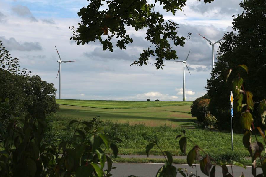 Windräder in Greste. Symbolfoto: Edeltraud Dombert
